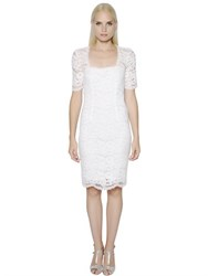 Blumarine Short Sleeve Cotton Lace Dress