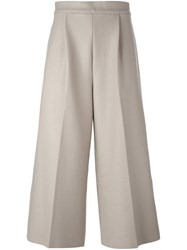 08Sircus Cropped Wide Leg Trousers Nude And Neutrals