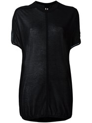 Rick Owens Oversized Knitted Top Black