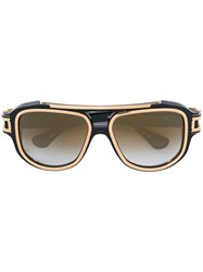 Dita Eyewear Contrast Trim Sunglasses Unisex Acetate One Size Black