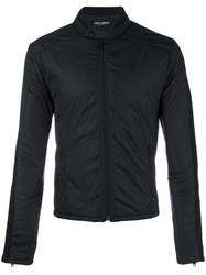 Dolce And Gabbana Knitted Panel Jacket Black