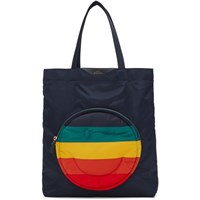 Anya Hindmarch Navy Chubby Wink Tote