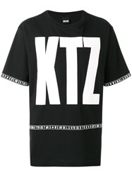 Ktz Logo Oversized T Shirt Unisex Cotton Xl Black