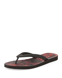 Prada Camouflage Bottom Thong Sandal Bordeaux