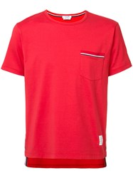 Thom Browne Chest Pocket T Shirt Red