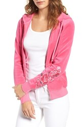 Juicy Couture Women's Roberts Embroidered Velour Hoodie