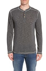 Vintage 1946 Space Dyed Long Sleeve Henley Charcoal