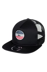 Quiksilver Flag Trucker Hat Black