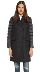 Add Down Wool Down Coat Black Melange Black