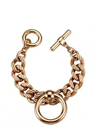 Mawi Bondage Chain Bracelet With Nipple Rings Gold