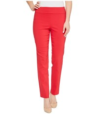 Krazy Larry Pull On Ankle Pants Red Women's Dress Pants