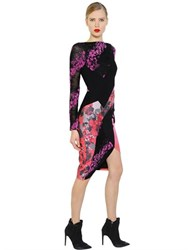 Antonio Berardi Floral Flocked Lace And Scuba Dress