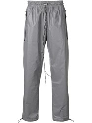 Represent Elasticated Track Pants Silver