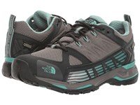 The North Face Ultra Gtx Surround Dark Gull Grey Agate Green Women's Shoes Gray
