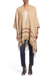Women's Modena Plaid Boucle Cape Brown