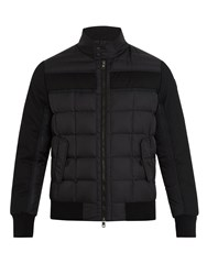 Moncler Aramis Wool Panel Quilted Down Coat Black