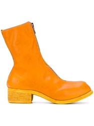 Guidi Front Zipped Boots Women Horse Leather Leather 36 Yellow Orange