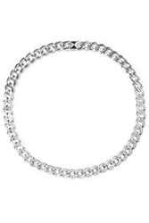 Noir Jewelry Woman Silver Tone Crystal Necklace Silver