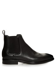 Lanvin Dual Leather Chelsea Boots Black