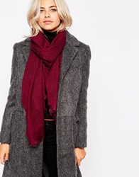 Oasis Oversized Textured Scarf Burgundy