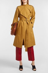 Cedric Charlier Cotton Trench Coat Navy