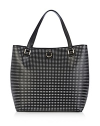 Karen Millen Perforated Tote Black Multi