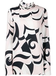Emilio Pucci Geometric Pattern Blouse White
