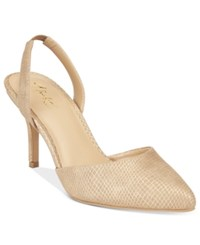 Thalia Sodi Lola Pointed Toe Slingback Pumps Only At Macy's Women's Shoes Nude