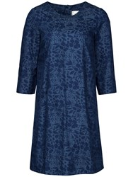 Seasalt Vidalias Printed Chambray Dress Indigo