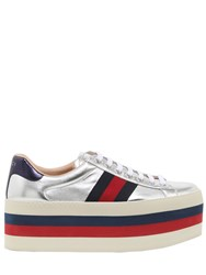 Gucci 80Mm New Ace Leather Platform Sneakers