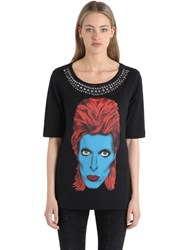 John Richmond Embellished Cotton Jersey T Shirt