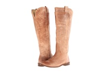 Frye Paige Tall Riding Tan Burnished Antique Leather Women's Pull On Boots Bronze