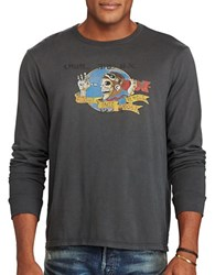 Polo Big And Tall Cotton Jersey Graphic Tee Polo Black