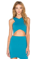Donna Mizani V Strap Crop Top Blue