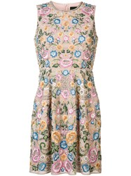 Needle And Thread Floral Pleated Dress Pink Purple