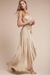 Anthropologie Lily Wedding Guest Dress Nude