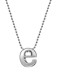 Alex Woo Sterling Silver Little Letter A Necklace 16 Silver E