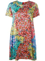 Ultrachic Abstract Print Dress