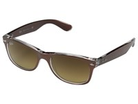 Ray Ban Rb2132 New Wayfarer 52Mm Top Brushed Brown Transparent Sport Sunglasses