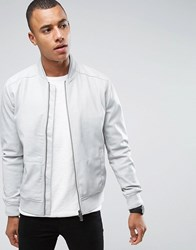 Only And Sons Faux Leather Bomber Porpoise Beige