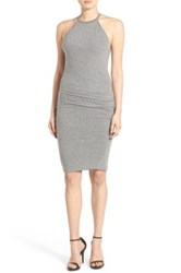 Pam And Gela Knit Bodycon Dress Gray