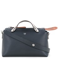 Fendi Dotcom Tote Women Calf Leather One Size Blue