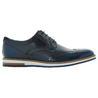 Bertie Baker Hill Gibson Leather Wingtip Shoes Navy