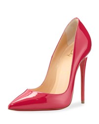 Christian Louboutin So Kate Patent 120Mm Red Sole Pump Rosa