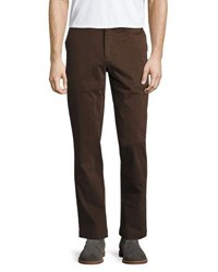 Jachs Ny Bowie Flat Front Chino Pants Brown