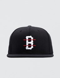 Black Scale B Logo Red Line Snapback Cap