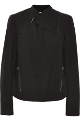 Helmut Lang Cotton Biker Jacket Black