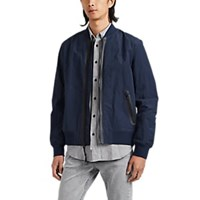 Rag And Bone Tape Trimmed Bomber Jacket Navy