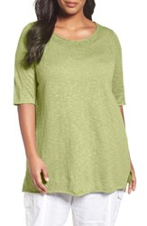Eileen Fisher Plus Size Women's Organic Linen And Cotton Tunic Lemon Ice