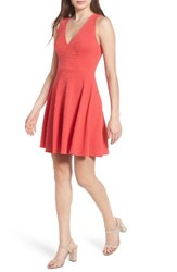Soprano Women's Back Bow Skater Dress Red